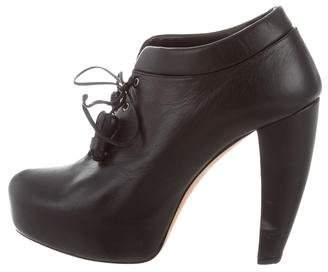 Christian Dior Leather Platform Booties