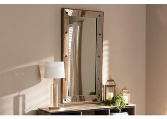 Baxton Studio Almira Modern and Contemporary Antique Gold Finished Rectangular Accent Wall Mirror