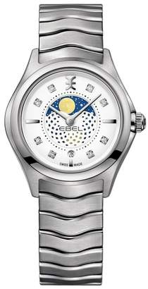 Ebel Moonphase Wave Bracelet Watch, 30mm