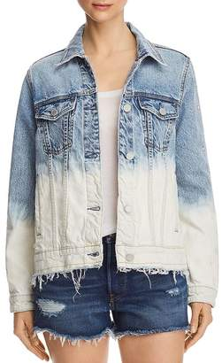 Blank NYC BLANKNYC Dip-Dye Embroidered Denim Jacket - 100% Exclusive