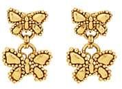 Loren Stazia Women's Butterfly Clip-On Drop Earrings-Gold