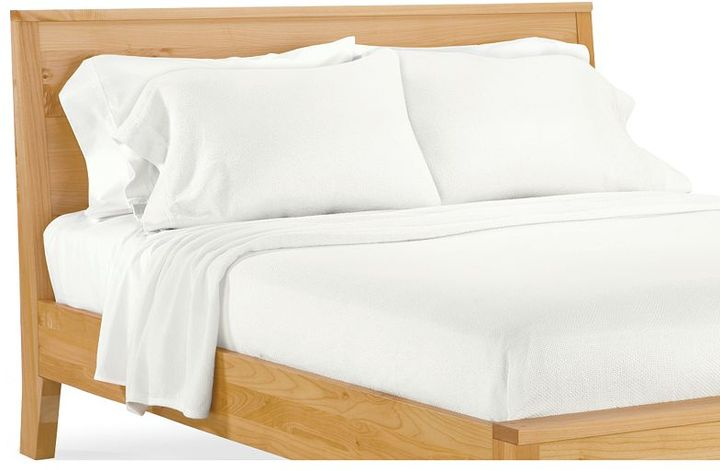 Cotton Basket-weave Full/Queen Blanket in White