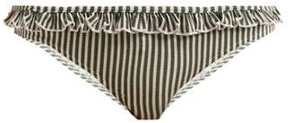Solid & Striped The Milly Ruffle Bikini Briefs - Womens - Green Stripe
