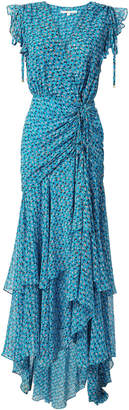 Veronica Beard Samara Ruched Maxi Dress