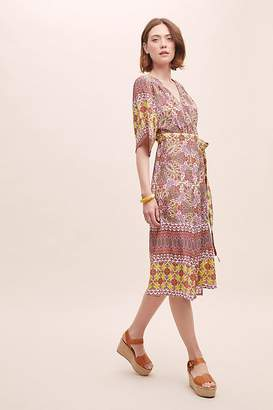 ae153cd086f5 Kachel Ricki Geometric-Print Wrap Dress