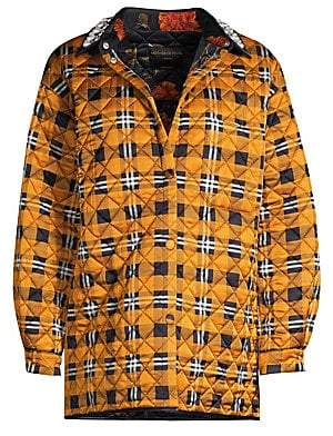 Mother of Pearl Women's Harley Pearl Emebllished Quilted Plaid Jacket