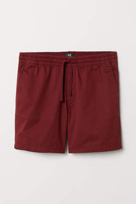 H&M Cotton Shorts Relaxed fit - Red