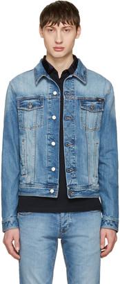 AMI Alexandre Mattiussi Blue Denim Jacket $355 thestylecure.com