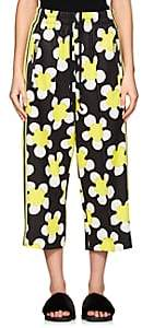 Marc Jacobs WOMEN'S DAISY-PRINT JERSEY CROP TRACK PANTS-YELLOW SIZE 2