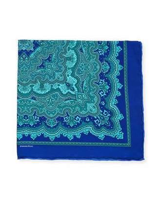 Stefano Ricci Men's Tapestry-Print Silk Pocket Square