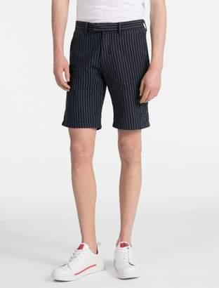 Calvin Klein striped twill shorts