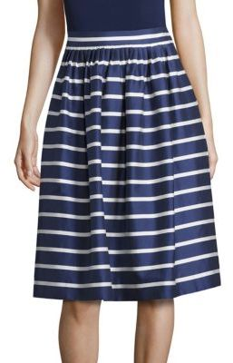 Polo Ralph Lauren Striped Cotton and Mulberry Silk A-Line Skirt $298 thestylecure.com