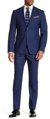 Original Penguin High Blue Sharkskin Slim Fit Suit