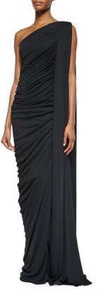 Michael Kors Collection One-Shoulder Slit Draped Gown $3,995 thestylecure.com