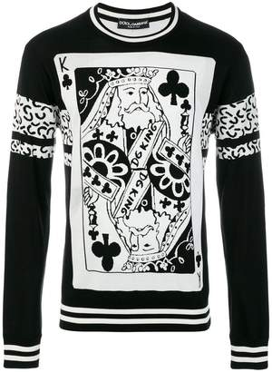 Dolce & Gabbana King of Clubs sweater