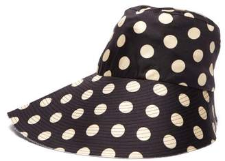 La Prestic Ouiston - Polka Dot Silk Bucket Hat - Womens - Black 0fa88f5f4a31