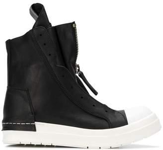 Cinzia Araia hi-top zipped sneakers
