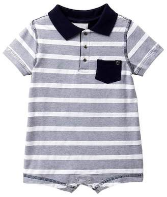 Coccoli Striped Polo Romper (Baby Boys)