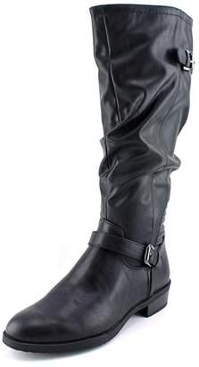 White Mountain Chip Women US 6 Black Knee High Boot