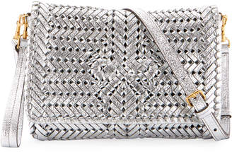 Anya Hindmarch The Neeson Woven Metallic Leather Crossbody Bag