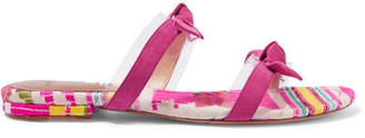 Alexandre Birman Bow-embellished Suede And Pvc Slides - Fuchsia