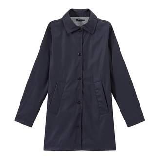 Dark Navy Overcoat Style Waterproof Raincoat