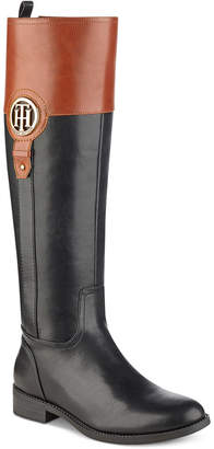 Tommy Hilfiger Ilia Wide Calf Riding Boots, Women Shoes