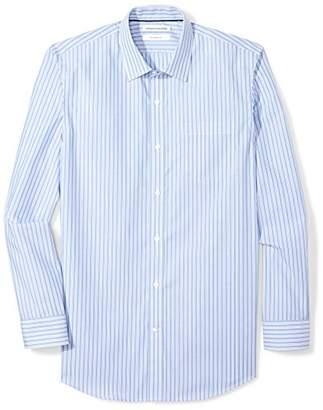 Amazon Essentials Men's Slim-Fit Wrinkle-Resistant Long Stripe Dress Shirt