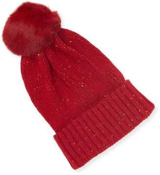 Adrienne Landau Women's Knit Pom Hat