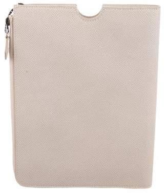 Giorgio Armani Leather IPad Case Beige Leather IPad Case