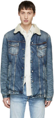 Nudie Jeans Blue Denim Lenny Jacket