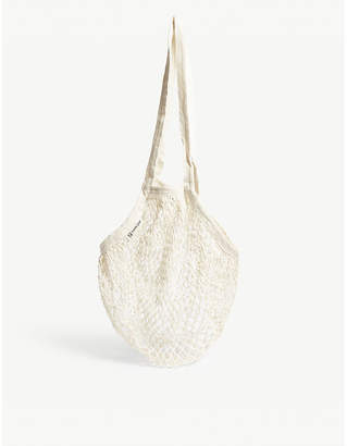 EDIT58 Long handle organic cotton mesh tote