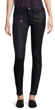 PAIGE Edgemont Ultra Skinny Coated Jeans $269 thestylecure.com