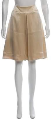 Giorgio Armani Silk A-Line Skirt w/ Tags Champagne Silk A-Line Skirt w/ Tags