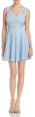 AQUA Layered Lace V-Neck Dress - 100% Exclusive $78 thestylecure.com