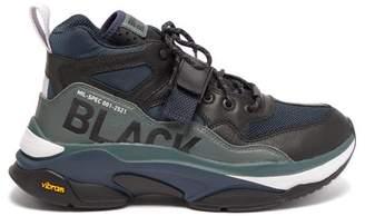 Brandblack Saga Mil Spec Mesh And Leather Trainers - Mens - Black Grey