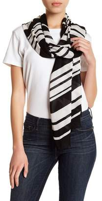 Kate Spade Stripe Frayed Trim Scarf