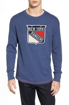 American Needle New York Rangers Embroidered Long Sleeve Thermal Shirt