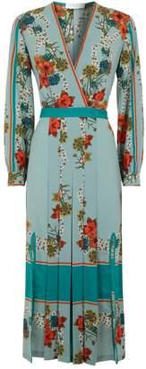 Sandro Floral Kimono Dress