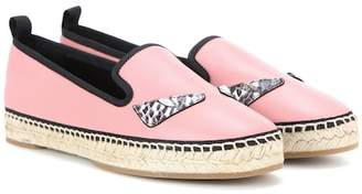 Fendi Leather espadrilles