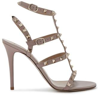 Valentino Rockstud 100 Blush Leather Sandals