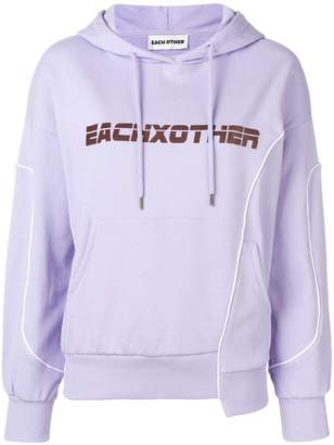 Each X Other deconstructed logo hoodie