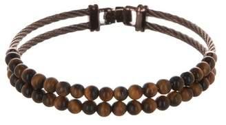 Alor Bronze Stainless Steel & Tiger's Eye Beaded Bracelet