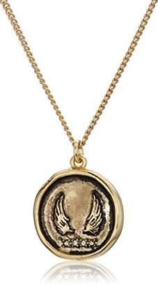 Rachel Roy Womens Talisman Wing Pendant Chain Necklace