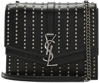 Saint Laurent Medium Studded Monogramme Sulpice Chain Bag