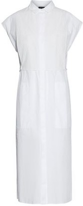 Rag & Bone Gauze-Paneled Cotton-Poplin Shirt Dress
