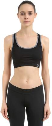 Vigor7 Logo Print Seamless Sports Bra
