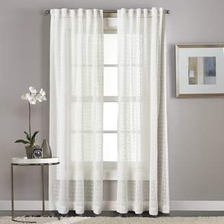 Window Curtainworks 1-Panel Diamond Patterned Sheer Window Curtain