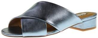 Steve Madden Womens Infamous Open Toe Slide Sandals Blue 7.5 Medium (B,M)
