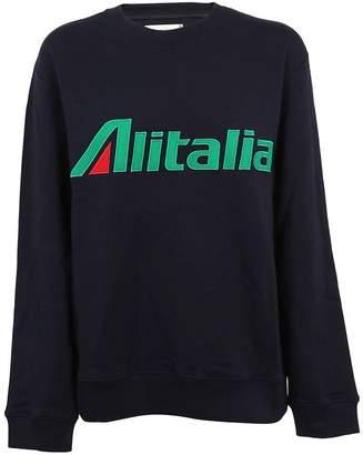 Alberta Ferretti Alitalia Patch Sweatshirt